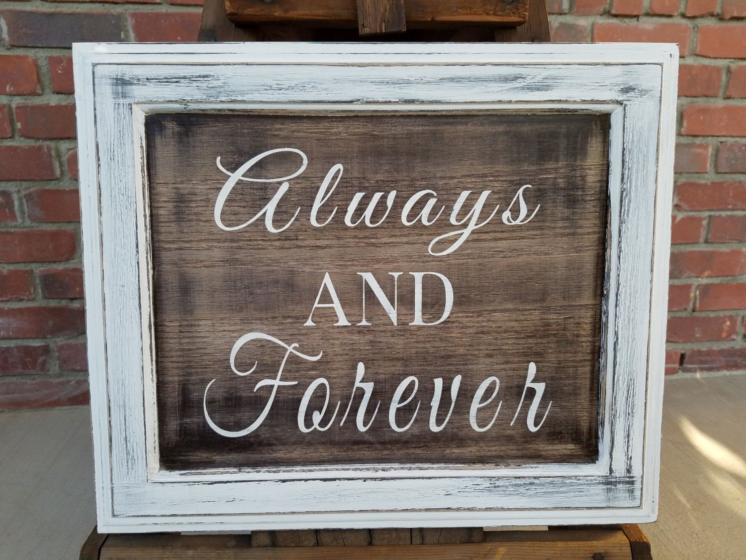 Rustic Always And Forever Wood Sign Rustic Decor Housewarming Gift