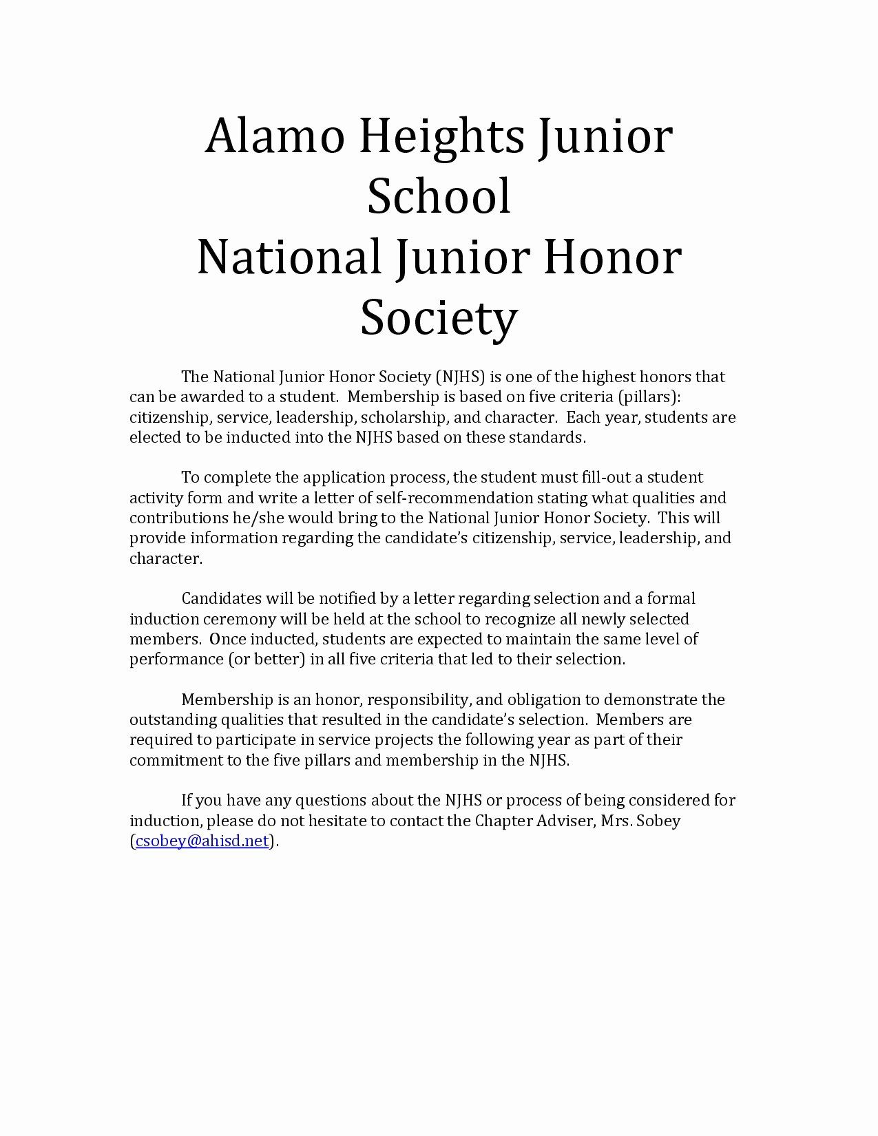 30 Letter for Honor society in 2020