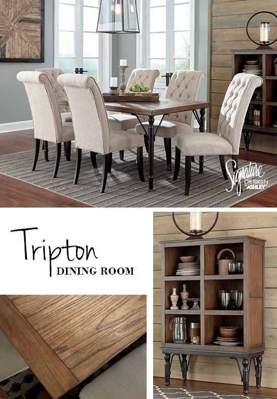 Tripton Dining Room Furniture And Accessories Ashley Furniture Ashleyfurniture Farmhouse Dining Room Dining Room Sets Dining Room Furniture