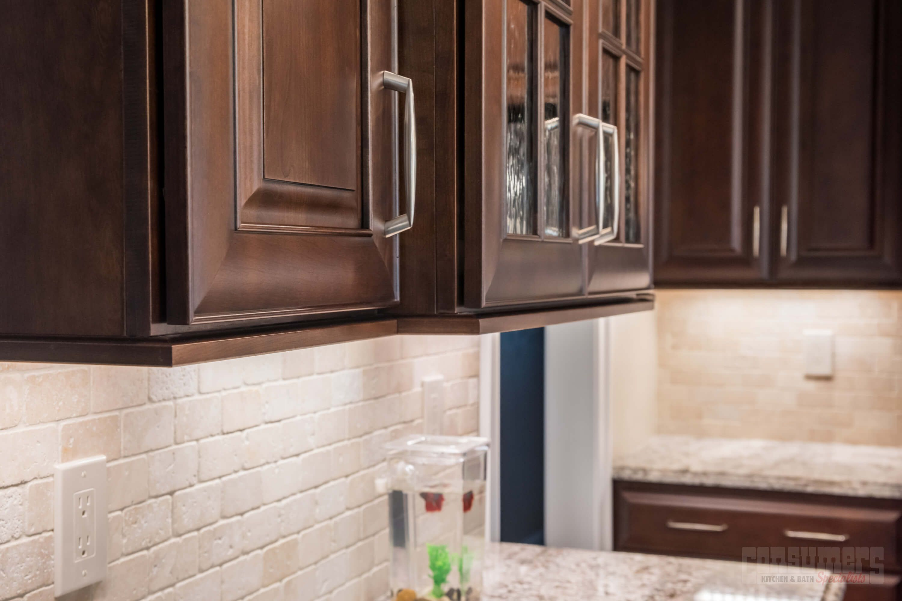 This Cherry Kitchen Was Designed With Starmark Cabinets In The Prescott  Door Style. Featuring A Chestnut Stain Finish, The White Torroncino Granite  ...