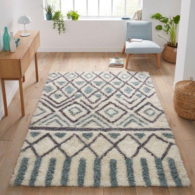 tapis en laine ocrul id e appart wool rug rugs et wool. Black Bedroom Furniture Sets. Home Design Ideas