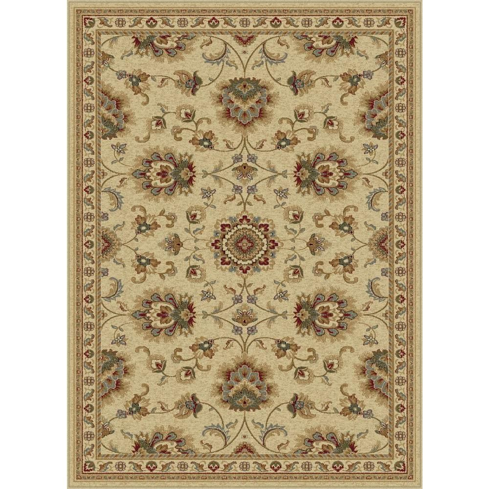 Tayse Rugs Sensation Ivory 9 Ft X 12 Ft Traditional Area Rug