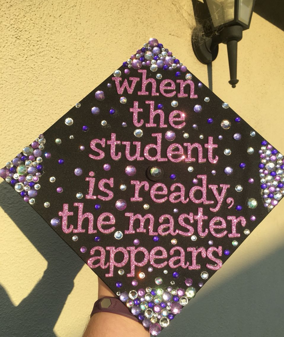 Decorating graduation cap ideas for teachers - My Masters Graduation Cap