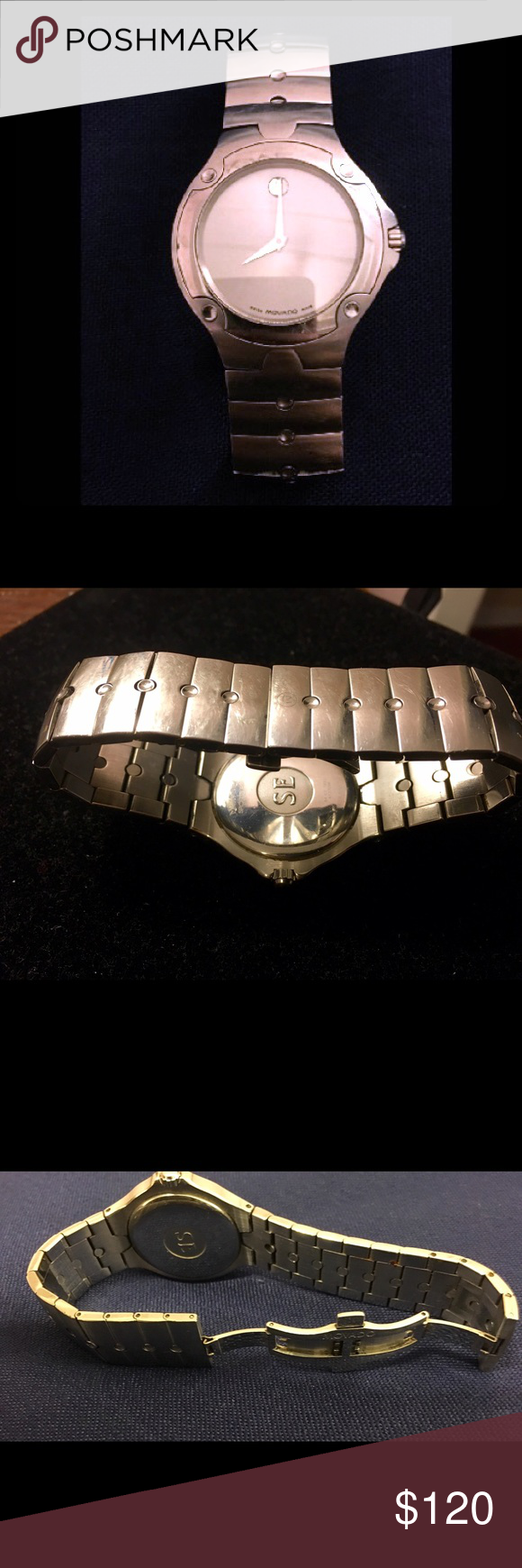 Men's Movado Watch Battery replacement needed. Sports edition, stainless steel, water resistant, sapphire crystal gently used very minor scratches not noticeable. No box. As is Movado Other
