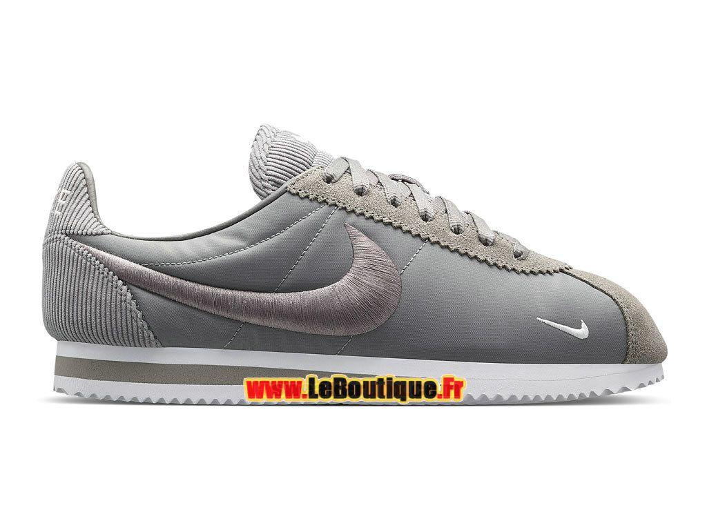 Nike Classic Cortez SP (GS) - Chaussures Nike Sportswear Pas Cher Pour Femme/Enfant Gris canyon/Blanc 789594-001G