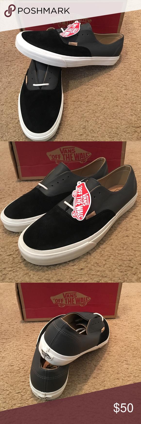 Authentic Decon Paige Suede Leather Vans New in box. Black Vans Shoes  Sneakers 7142fca5c