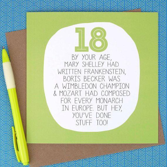Funny Birthday Cards, 18th