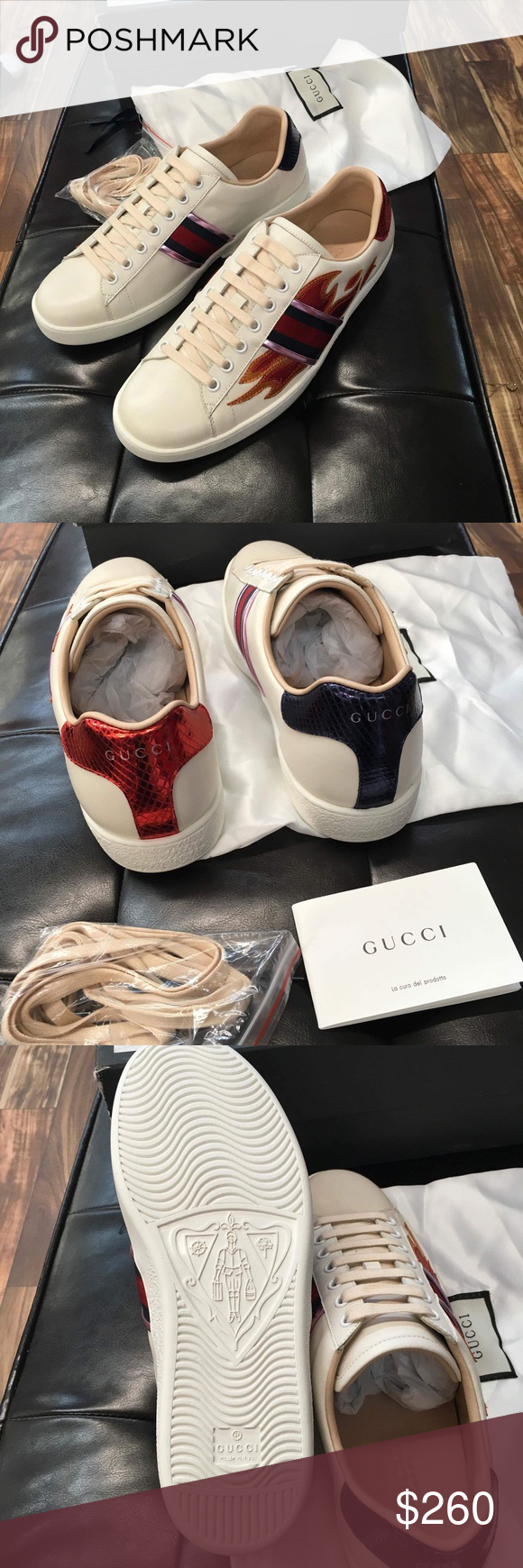 3befafdbc19 Gucci sneaker Gucci ace. Size 11. New with box 1 dust bag fast 2-3 days  usps priority shipping Gucci Shoes Sneakers