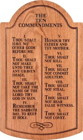 10 commandments of god # 9