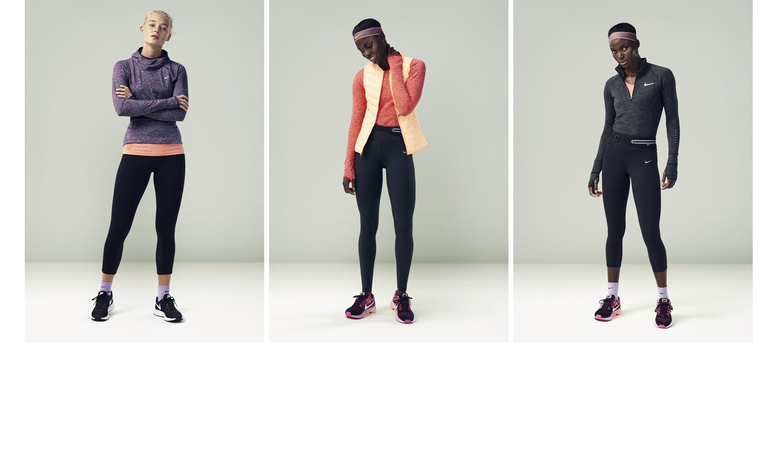 Browse Nike.com for women's looks. Find tips on choosing the right apparel for the season and order online >