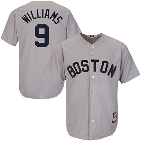 Cheap Majestic Ted Williams Red Sox Cool Base Grey Cooperstown Tackle Twill  Jersey Father day sale