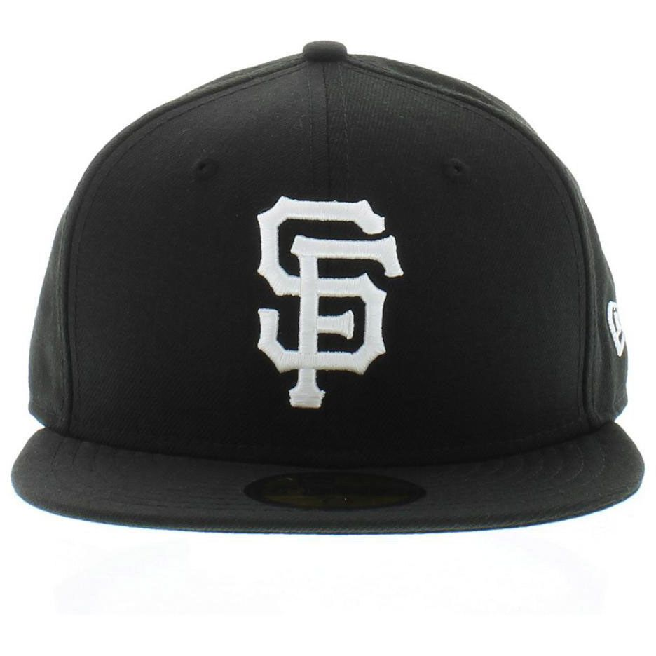 San Francisco Giants Black And White New Era Fitted Hat 59Fifty