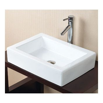 Shop Wayfair For Ronbow Rectangle Ceramic Vessel Bathroom Sink Without  Overflow   $284