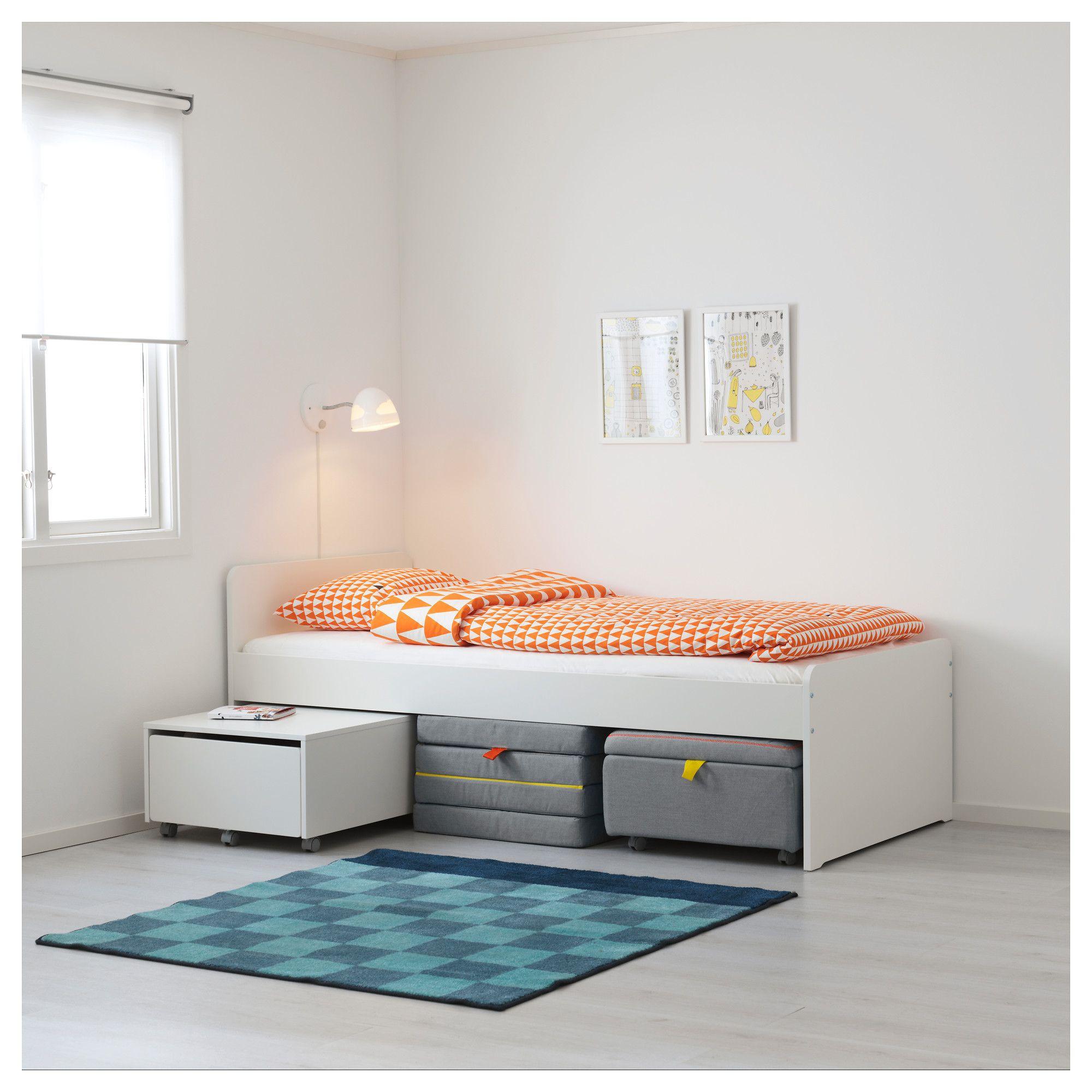 IKEA SLÄKT Mattress, folding Bed frame with storage