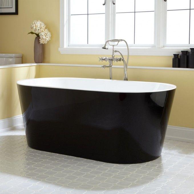 Eden Black Acrylic Tub Bathtubs Bathroom Signature Hardware