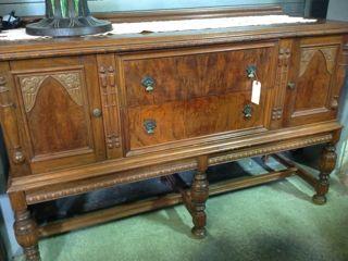 Very Unique And Interesting Vintage Mahogany Burl Wood