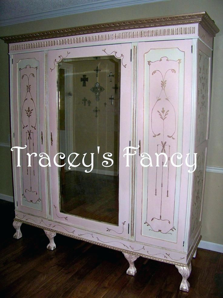 Armoire ~ Storage Armoire Wardrobe Closet Antique French Cabinet