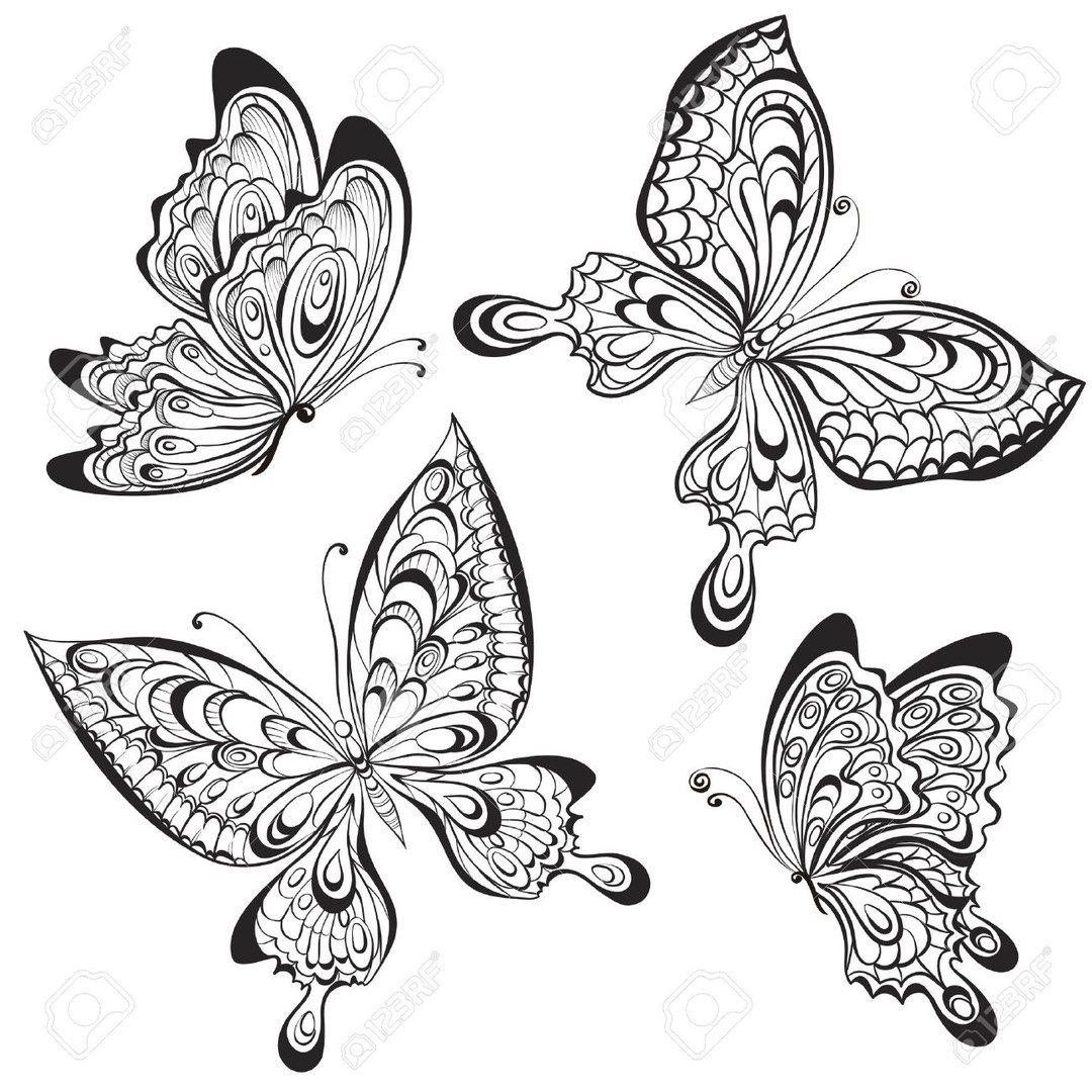 Tatyana Nikonchuk Butterfly Coloring Page Coloring Pages Butterfly Drawing