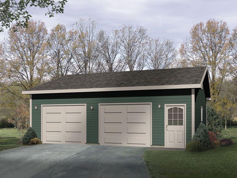 Plan 2216sl Simple Two Car Garage In 2021 Garage Door Design Garage Door Types Garage Plans