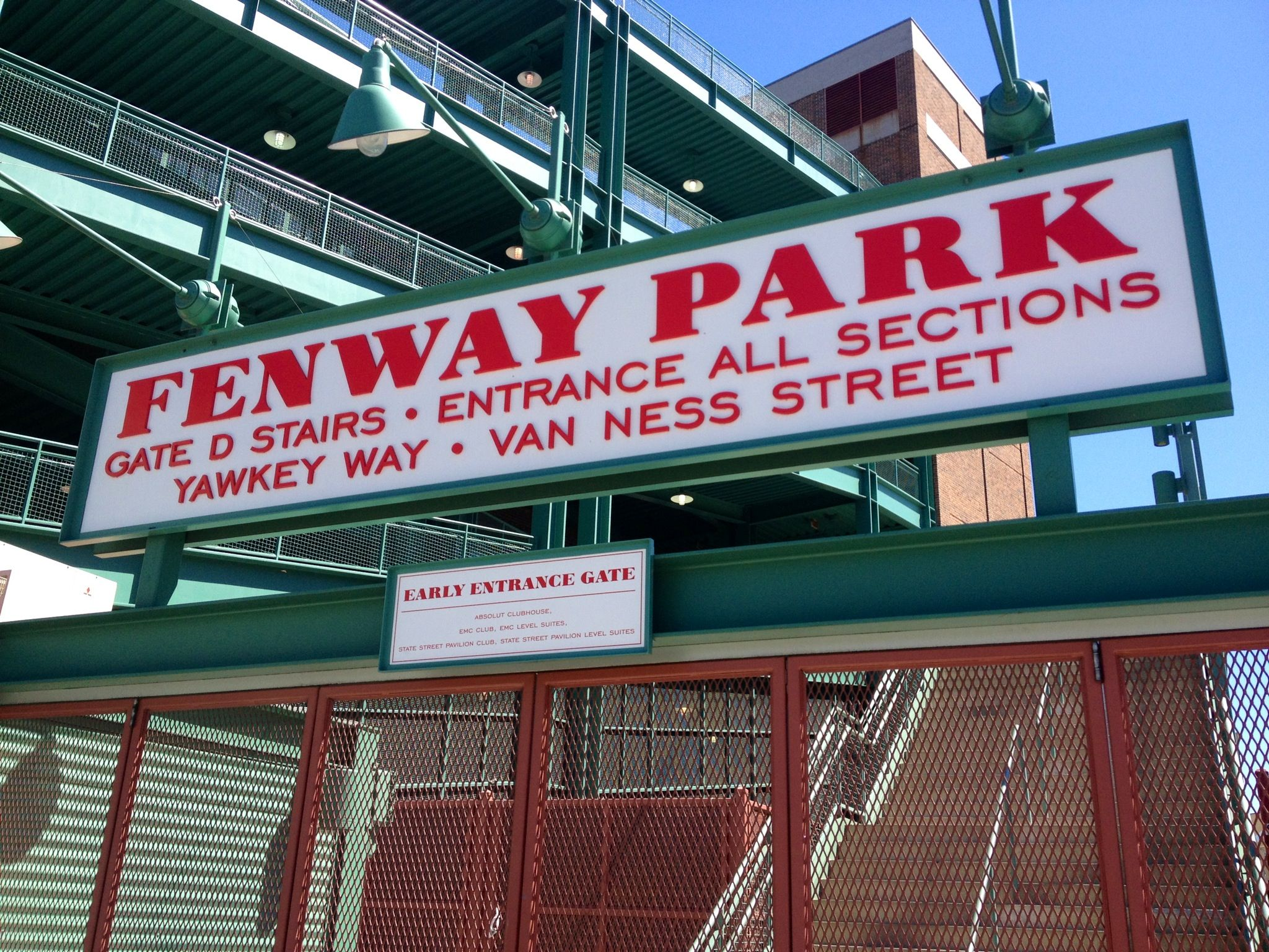 see a Red Sox game in Fenway park