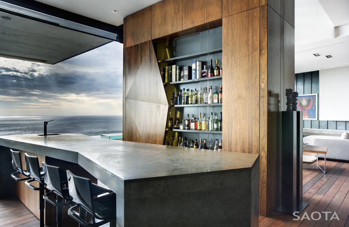 Modern-Mini-Bar-Interior-Nettleton-195-House-by-SAOTA-and-Antoni ...