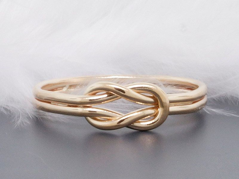 Amazing New to TDNCreations on Etsy solid gold ring infinity knot ring hug ring nautical knot ring promise ring engagement ring mitment ring USD