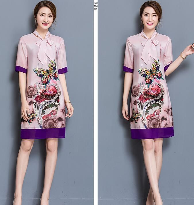 Fashion Women Loose Short Sleeve Print Dress Party Cocktail Short Mini Dress