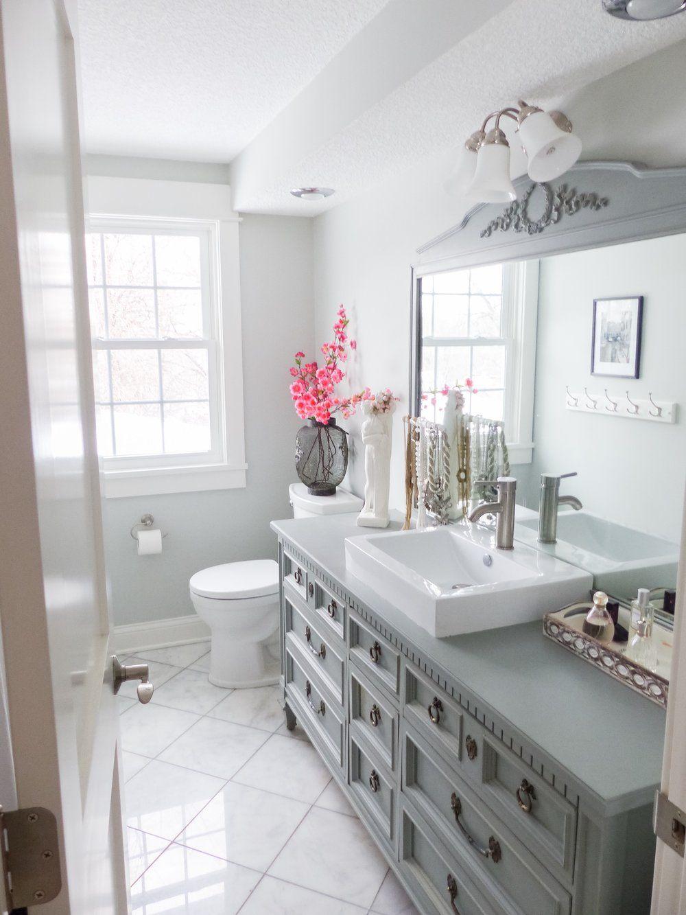 budget friendly bathroom makeover diy bathroom decor on bathroom renovation ideas diy id=14432
