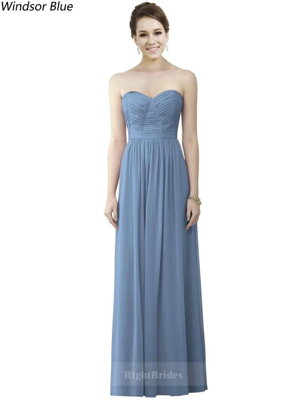 Brides Perth | Shop A-Line Sweetheart 2018 Long Chiffon Windsor Blue ...