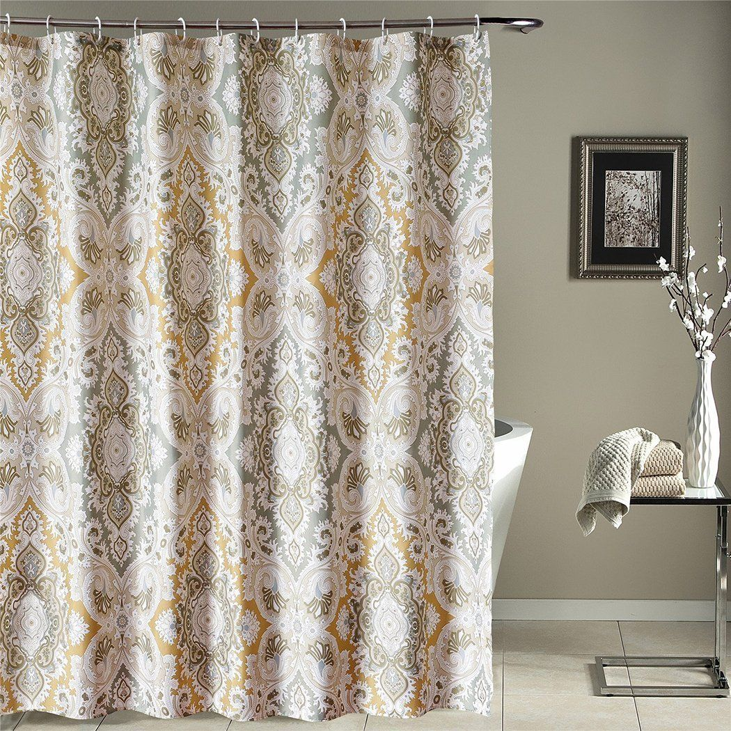 Bathroom Decorating Ideas With Welwo Shower Curtain, X Wide_ Extra Wide  Shower Curtain Set