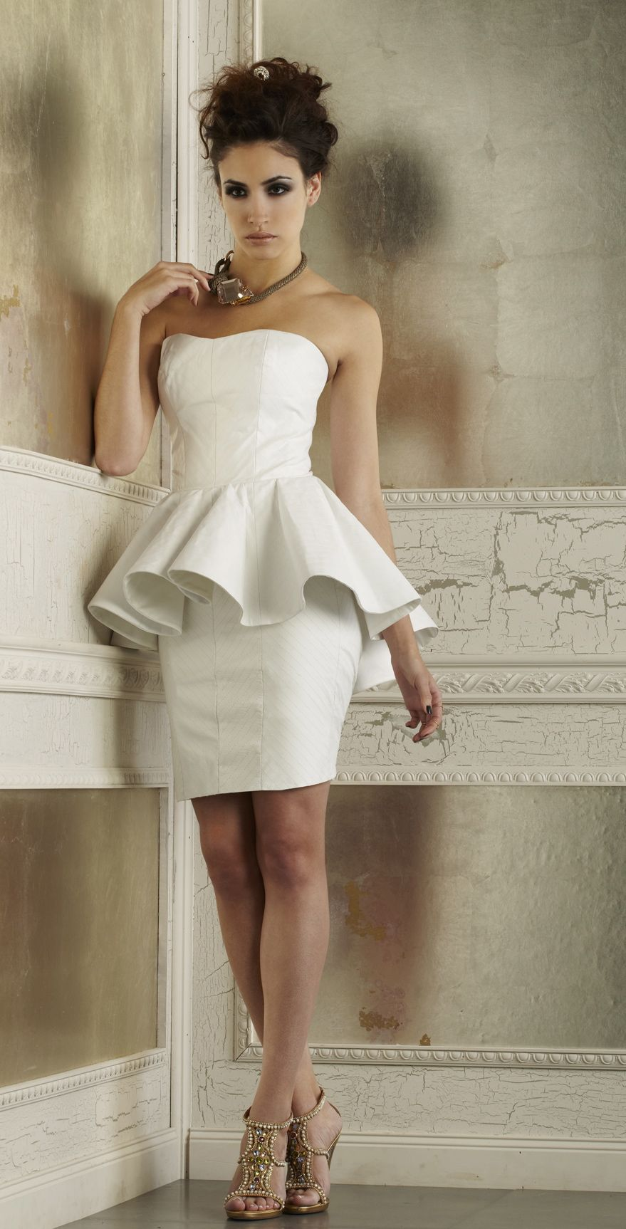 Edgy wedding dresses  The Madison Corset and The Logan Skirt by Della Giovanna lla