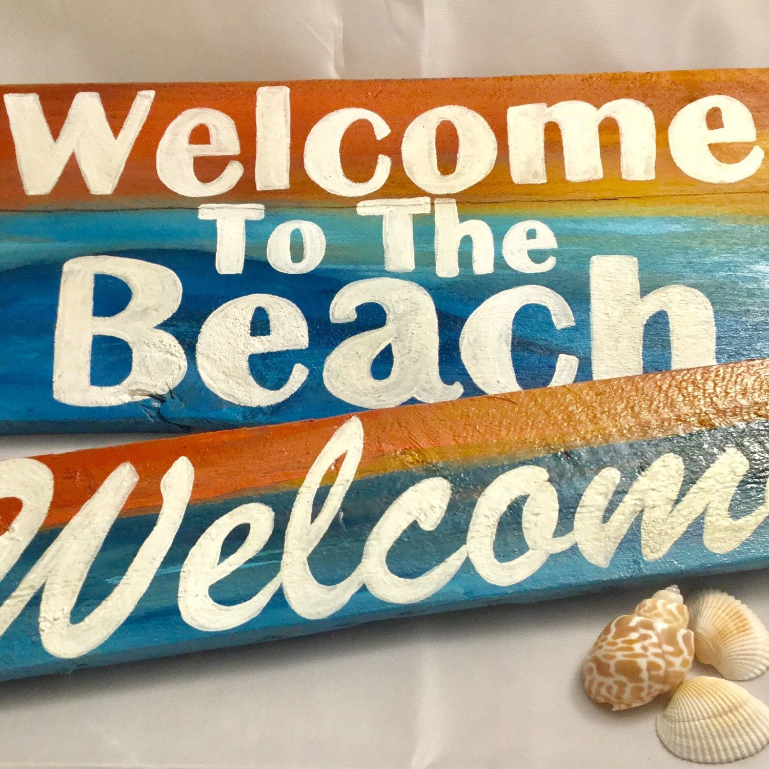 Love The Look Of These New Beach And Sunset Themed Welcome