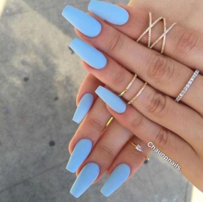 Nails By Chaunpnails Blue Acrylic Nails Periwinkle Nails Nail Designs