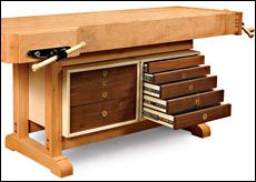 Tool Cabinet for a Workbench - Fine Woodworking Article | What I ...