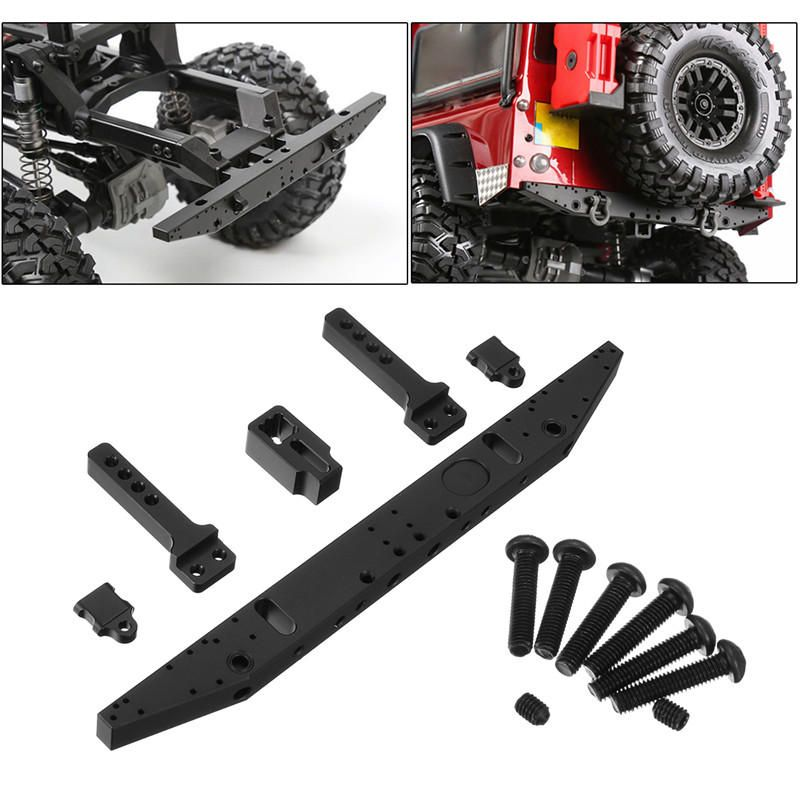 Silver RC Car Chassis Crossmember Aluminum Alloy Back Chassis Crossmember Bracket for TRX-4 RC Crawler Car Replacement Part