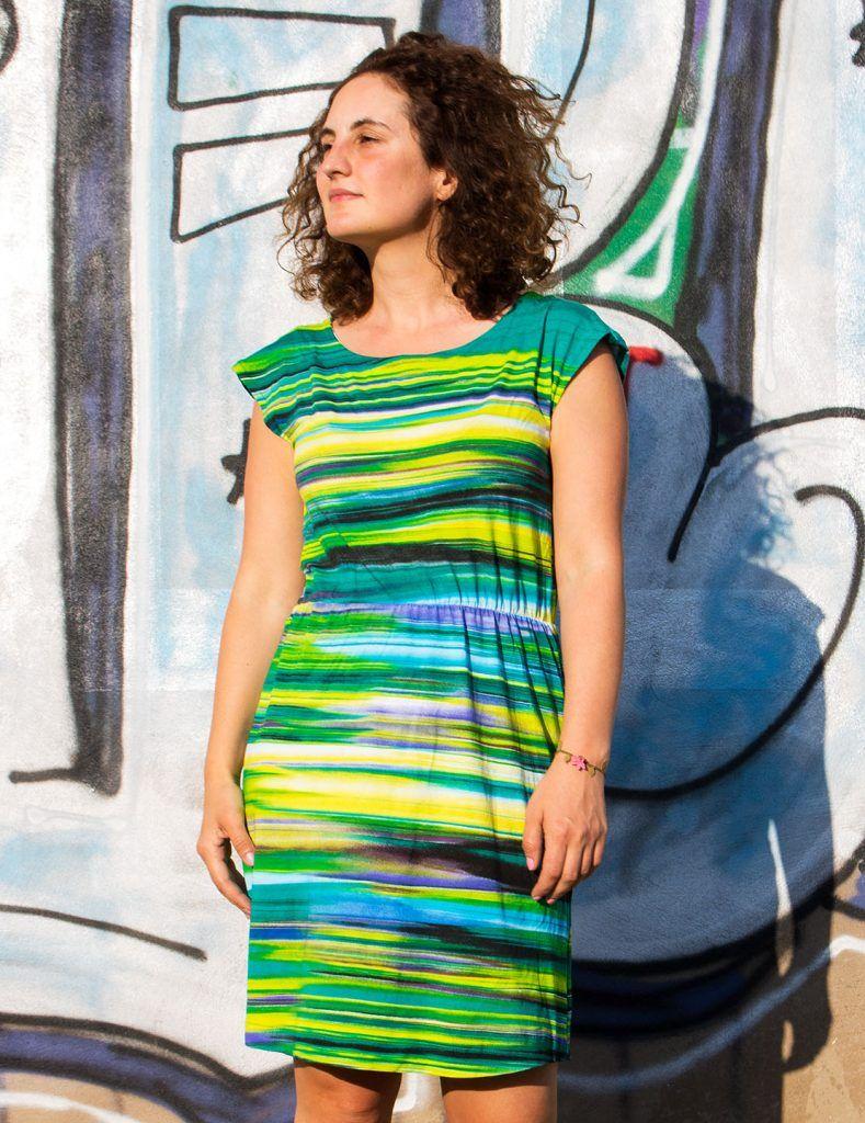 Einfaches Sommerkleid nähen | Sommerkleid, Sommer kleider ...