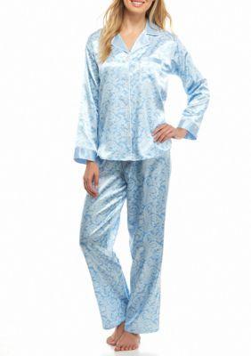 3e192d48645 Miss Elaine Blue Pais Two Piece Pajama Set | Products | Pajama set ...