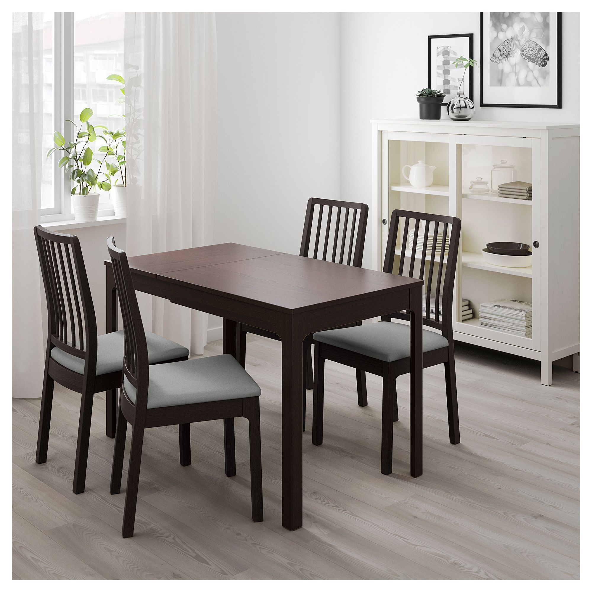 Ekedalen Extendable Table Dark Brown Ikea Ikea Dining Table Set