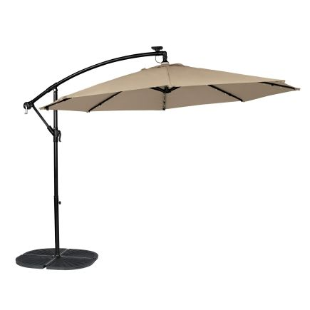 Living Accents 10ft Round Offset Umbrella With Solar LED Lights   Ace  Hardware