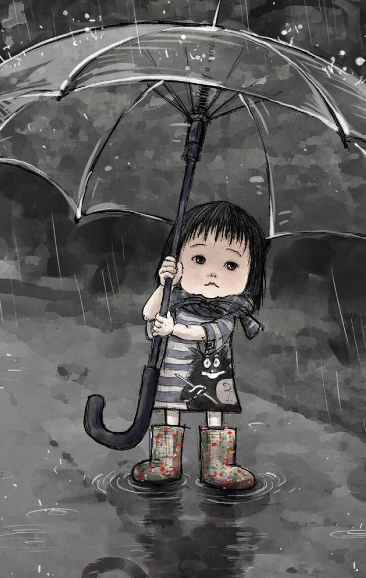 Omg I Just Fall In Love With This Pict 3 Arte De Paraguas Ilustración De Lluvia Imágenes De Lluvia