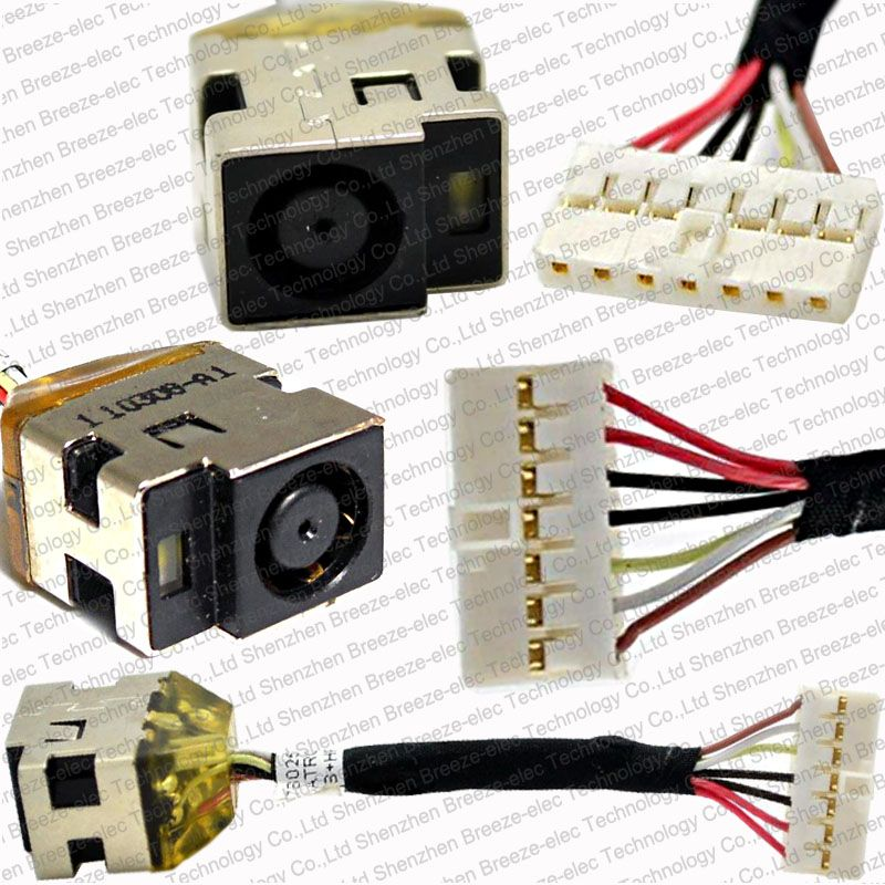 Genuine New Laptop Dc Jack Power Plug In Cable Socket Harness Wire For Hp 14 5 Dv5 2000 G6 P N 6017b0258701 Power Plug Wire Connectors New Laptops