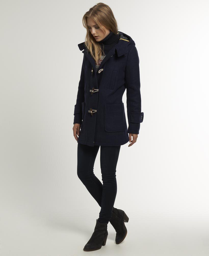 Womens Paddington Duffle In Navy Superdry Womens Jackets Casual Coats Jackets Women Summer Jackets Women [ 1000 x 820 Pixel ]