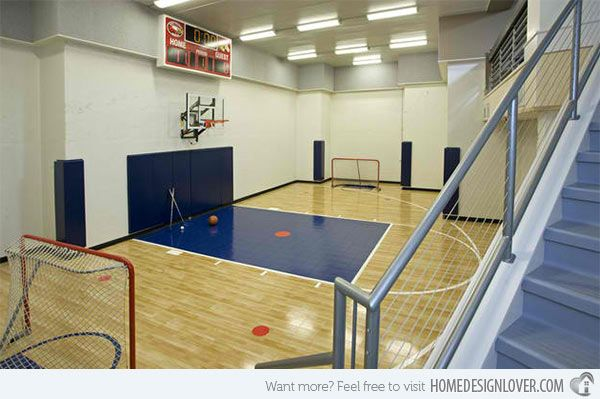 Ordinaire 15 Ideas For Indoor Home Basketball Courts