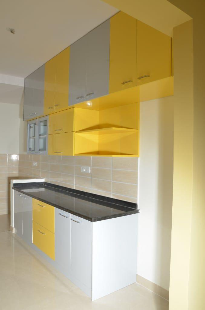 Indian Parallel Kitchen Interior Design Kitchen By Scale Inch Pvt Ltd Homify Kitchen Cupboard Designs Kitchen Interior Design Modern Interior Design Kitchen
