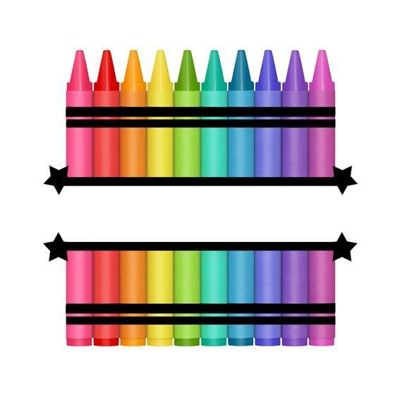 Crayon Monogram Waterslide PNG Clip Art Graphic Instant Download PNG027