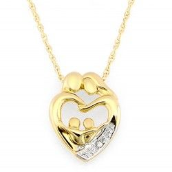 10k Gold Two Parent And Two Child Family Heart Pendant Heart Pendant Jewelry Heart Pendant Gold Gold Jewelry Outfits
