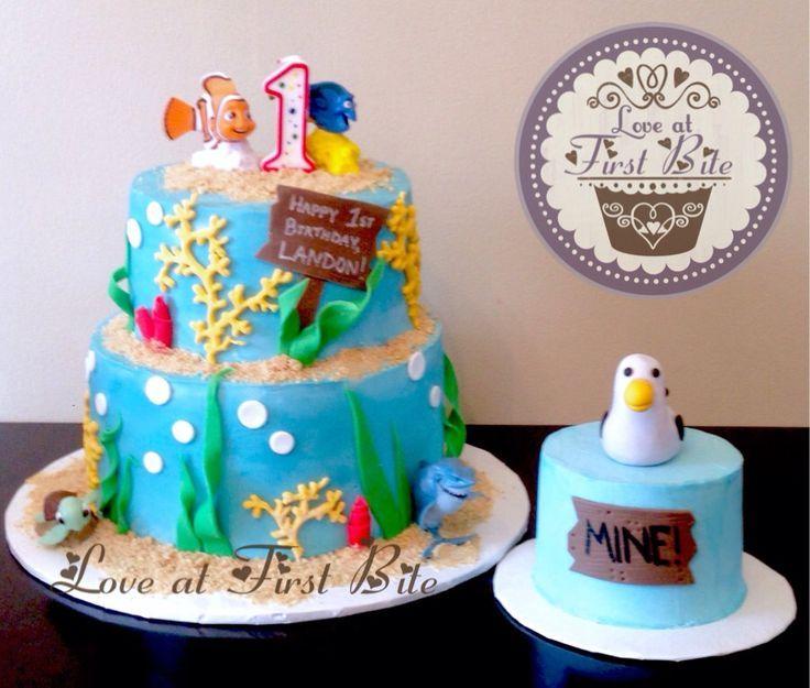 First Birthday Finding Nemo Cake And Smash Cake Boys Birthday - Finding nemo birthday cake