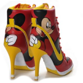Mickey mouse shoes, Nike high heels