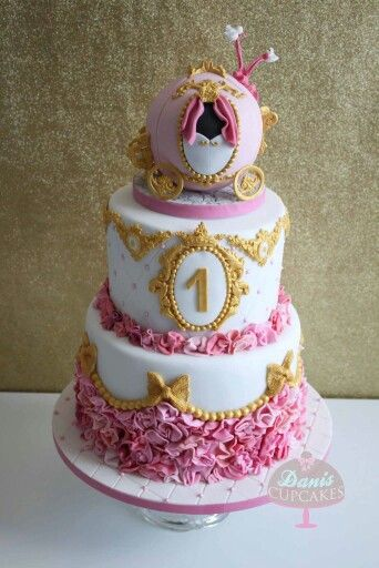 Pleasing Cinderella 1St Birthday Princess Cake Cutest Cake I Want This For Funny Birthday Cards Online Alyptdamsfinfo