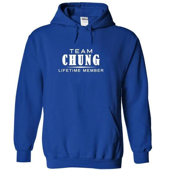 Team CHUNG, Lifetime member - #grandparent gift #hoodie dress. SATISFACTION GUARANTEED => https://www.sunfrog.com/Names/Team-CHUNG-Lifetime-member-yehcxjhkew-RoyalBlue-15377300-Hoodie.html?60505